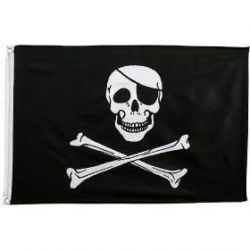 3' X 5' Polyester Jolly Roger Flag