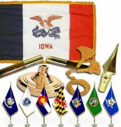 Indoor Mounted Iowa State Flag Sets