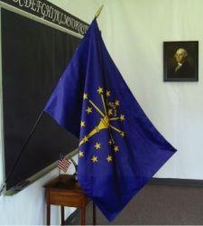 Indiana Classroom Flag - 2 ft X 3 ft
