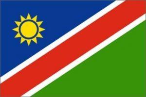 Nylon Namibia Flag - 3 ft X 5 ft