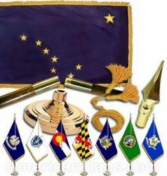 Indoor Mounted Alaska State Flag Sets