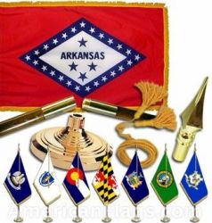 Indoor Mounted Arkansas State Flags