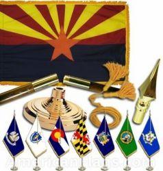 Indoor Mounted Arizona State Flag Sets