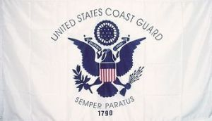 Economy Printed Coast Guard Flag - 2 ft X 3 ft