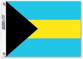 Nylon Bahamas Flag - 5 ft X 8 ft