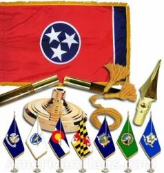 Indoor Mounted Tennessee State Flag Sets