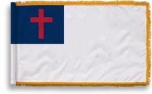 3' X 5' Indoor Christian Flag - Fringed or Unfringed