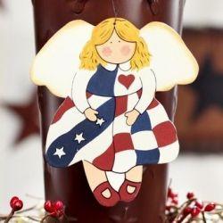 Americana Angel Ornament