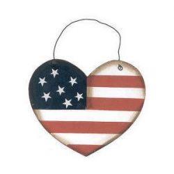 Americana Heart Ornament