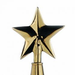 Brass Guiding Star Flagpole Ornament