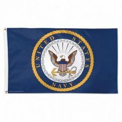 Deluxe US Navy Emblem Flag