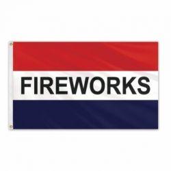 Lightweight Poly Fireworks Flag