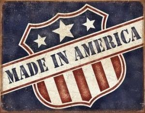 Made in America Tin Sign