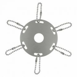 Silver Metal Award Ribbon Pole Ring