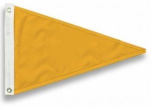 Nylon Solid Color Pennants - 5 Sizes/73 Colors