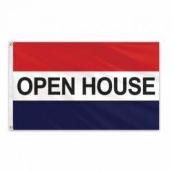 Lightweight Poly Open House Flag