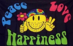 Peace, Love & Happiness Flag