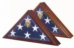 Presidential Flag Case in Walnut or Cherry