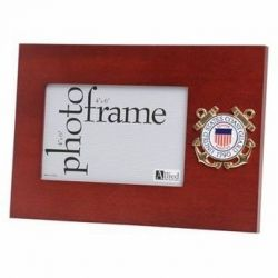 U.S. Coast Guard Medallion Desktop Picture Frame