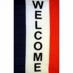 Lightweight Poly Vertical Welcome Flag