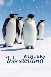 Winter Wonderland Penguins Garden Banner