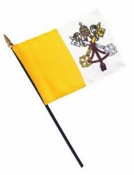 Handheld Papal Flags - 4 in X 6 in