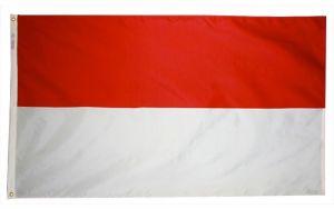 Nylon Indonesia Flag - 3 ft X 5 ft