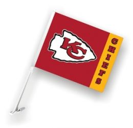 Kansas City Chiefs - Square Car Flag