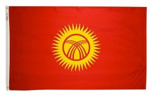 Nylon Kyrghyzstan Flag - 5 ft X 8 ft