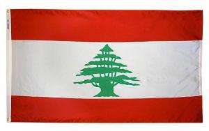 Nylon Lebanon Flag - 3 ft X 5 ft