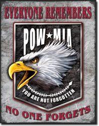 POW/MIA Eagle Vintage Tin Sign