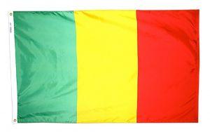 Nylon Mali Flag - 4 ft X 6 ft