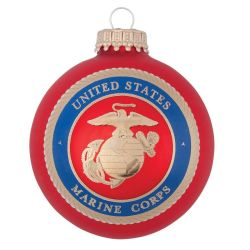 U.S. Marine Corps Red Glass Ball Ornament