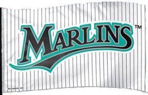 Miami Marlins Classic Pinstripe Flag - 3 ft X 5 ft