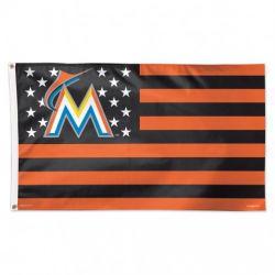 Miami Marlins Stars and Stripes Flag