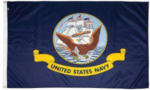 Mil-Tex Military-Grade Navy Flag - 3 ft X 5 ft