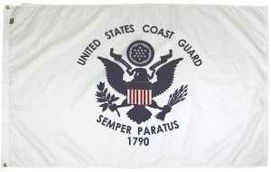 Mil-Tex Military-Grade Coast Guard Flag - 4 ft X 6 ft