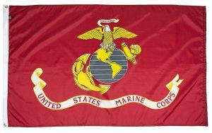 Mil-Tex Military-Grade Marine Corps Flag - 3 ft X 5 ft