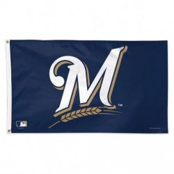 Deluxe Milwaukee Brewers Flag - 3 ft X 5 ft