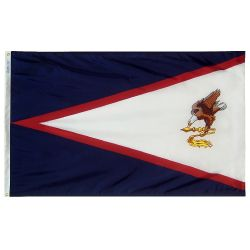 Nylon American Samoa Flag - 6 ft X 10 ft
