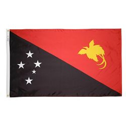 Nylon Papua - New Guinea Flag - 4 ft X 6 ft
