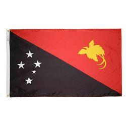 Nylon Papua - New Guinea Flag - 3 ft X 5 ft