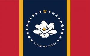 Nylon Mississippi 2021 - State Flag - 2 ft X 3 ft