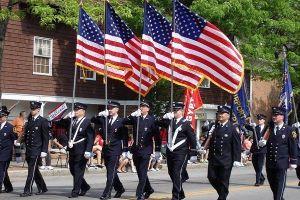 Complete Parade US Flag Sets