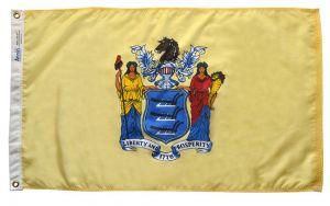 Nylon New Jersey State Flag - 12 ft X 18 ft