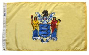 Nylon New Jersey State Flag - 12 in X 18 in