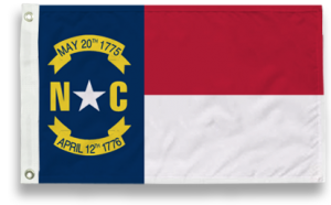 State-Tex Commercial Grade North Carolina State Flag - 3 ft X 5 ft
