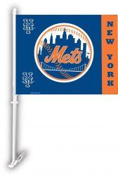 NY Mets - Car Flag