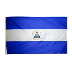 Nylon Nicaragua Flag - 5 ft X 8 ft