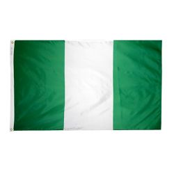 Nylon Nigeria Flag - 5 ft X 8 ft